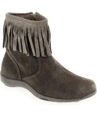 Boots Enfant fille Reqins en Cuir velours Gris