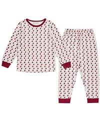Sense Organics Mädchen Zweiteiliger Schlafanzug Long John Retro Girls Pyjama Aop
