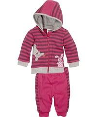 Schnizler Baby-Mädchen Jogginganzug Interlock Bär & Hase, Oeko-Tex Standard 100