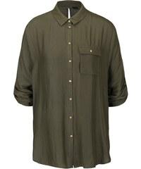 Khaki košile s kimonovými rukávy ONLY Erin
