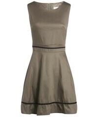 Robe évasée avec liserés contrastés Vert Coton - Femme Taille 36 - Cache Cache