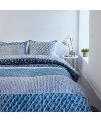 Lesara Flanell-Bettwäsche Macy Blau - 155 x 220 cm