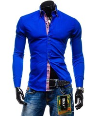 31834d314bc Pánská košile BOLF 0926 královsky modrá