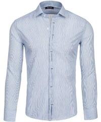 Šedé pánské košile slim fit  847878d8a7