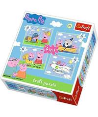Puzzle Prasátko Peppa Pig 4v1 Rodina
