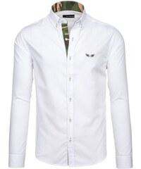 Bílá pánská košile s dlouhým rukávem Bolf 6850 4a02b5c21f