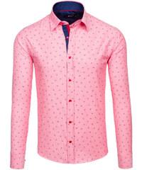 bb4d1c4fd25 Pánská košile BOLF 6886 růžová