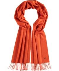 FRAAS Cashmink-Schal mit gestickter Distel in orange