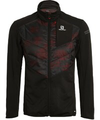 Salomon PARK WARM Veste de running black/briquex/dark cloud