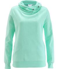 bpc bonprix collection Sweatshirt vert manches longues femme - bonprix
