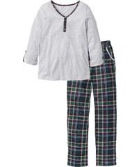 bpc selection Pyjama langarm in grau für Damen von bonprix