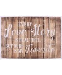 La Finesse Dřevěná cedule Every love story