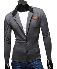 Maritimi Slim Fit-Sweat-Blazer - Dunkelgrau - S