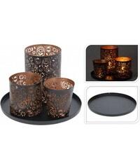 Dekorativní svícen na 3 čajové svíčky pr. 22,5 cm ProGarden KO-A04420240