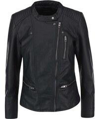 Černá koženková bunda ONLY Freya