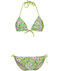 Strand EMMA Bikini green flowers