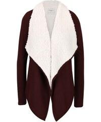 Vínový cardigan s kožíškem Vero Moda Ilsa