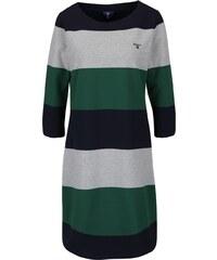 Zeleno-modré pruhované šaty s 3/4 rukávy GANT