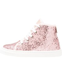 Friboo Baskets montantes glitter rose/coral