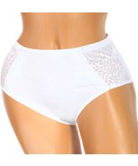 YooY Kalhotky vysokým pasem a květinovým vzorem bílá
