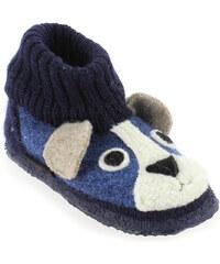 Chaussons Enfant garcon Giesswein en Textile Bleu