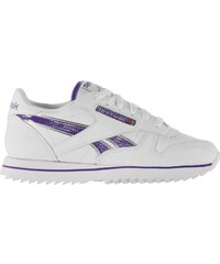 Reebok Classic Etched Trainers, white/purp/silv