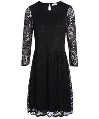 Robe dentelle manches 3/4 Noir Elasthanne - Femme Taille 36 - Cache Cache
