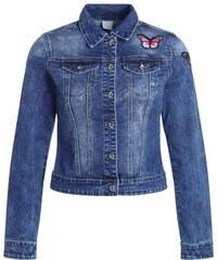 Veste denim patchs papillons Bleu Polyester - Femme Taille 0 - Cache Cache