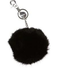 Oakwood Porte-clés en fourrure de lapin - noir