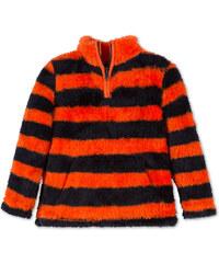 C&A Fleece-Pullover in Orange / Blau