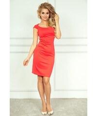 Luxusní dámské korálové elegantní šaty SaF
