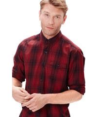 s.Oliver Červená kostkovaná košile