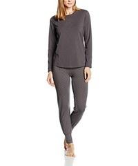 Palmers Damen Zweiteiliger Schlafanzug Sportlicher Langarm Pyjama Sporty Dots