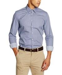 Redford Herren Freizeit Hemd minimal Print Slim Fit