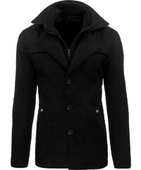 Moderní fantastický pánská černý kabát