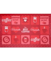 Prostírání PATISSERIE 30x45 cm červená kávový motiv Essex