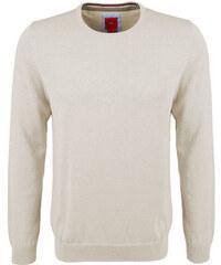 s.Oliver Pánský béžový svetr z jemné pleteniny s kulatým výstřihem
