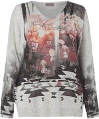 OPEN END PLUS SIZE - Pullover mit künstlerischem Muster