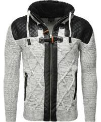 Pánský šedý svetr CARISMA na zip