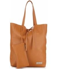 Kožené kabelky VITTORIA GOTTI Shopper bag zrzavá