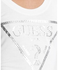 GUESS top Macaria tyrkysový vel. S