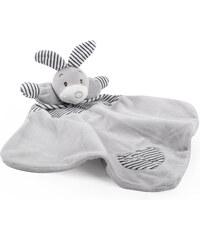 Dětský plyšový usínáček LITTLE CUDDLY zajíček stříbrný 40x35 cm Essex