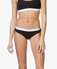 Calvin Klein černá tanga Thong s bílou gumou