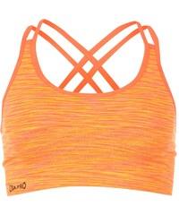 USA Pro Seamless Crop Sports Bra, orange spacedye