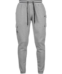 Lee Cooper Fashion Closed Hem Jogging Bottoms pánské Grey Marl