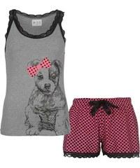 Miso Vest Pyjama Set dámské Puppy