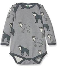 Småfolk Unisex Baby Body Ls.Wolf