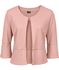 BODYFLIRT Boléro en jersey crêpe rose manches 3/4 femme - bonprix