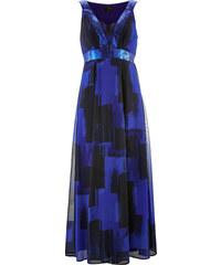 bpc selection Chiffonkleid mit Pailletten in blau von bonprix