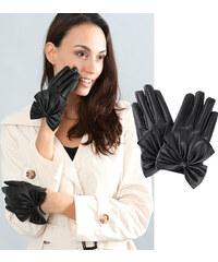 Lesara Handschuhe mit Schleifenapplikation